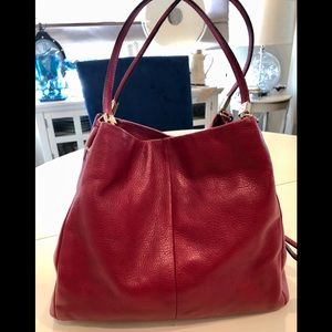 Coach deep red Phoebe leather bag